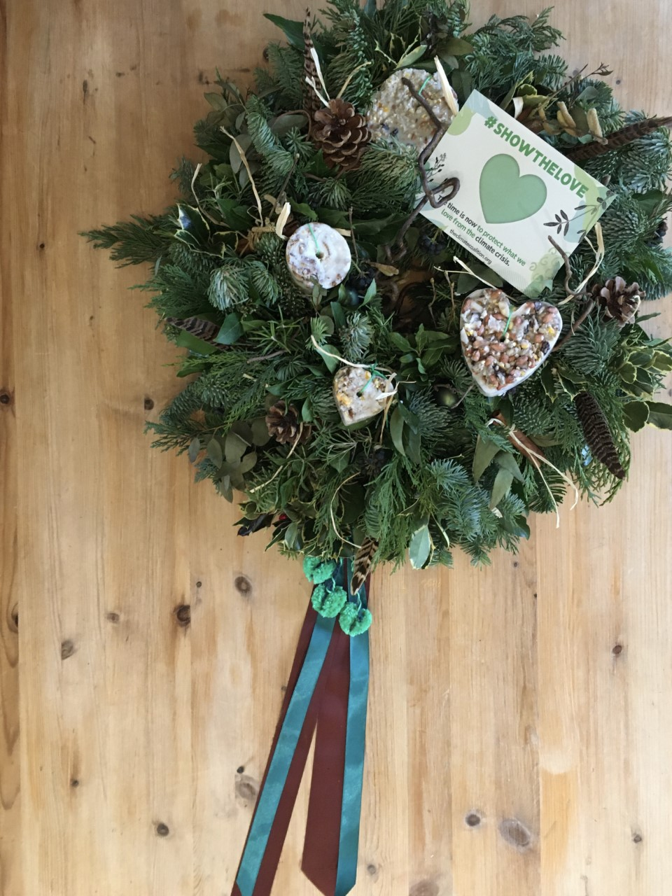 21.02 Green heart bouquet