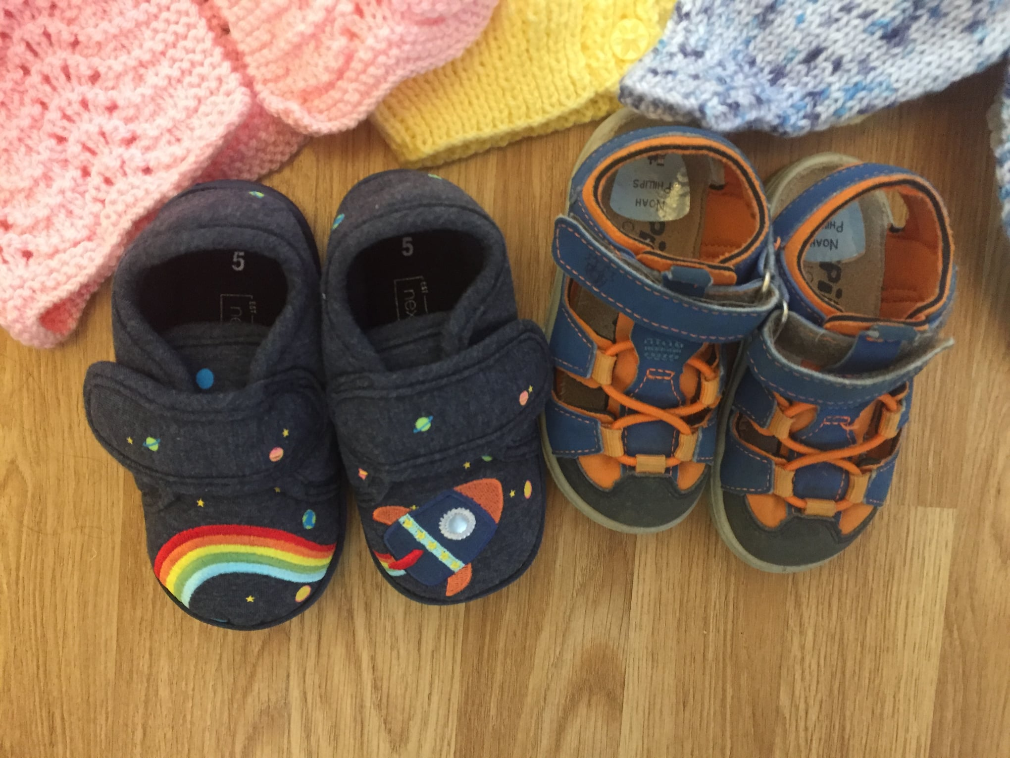 Tiny shoes donated