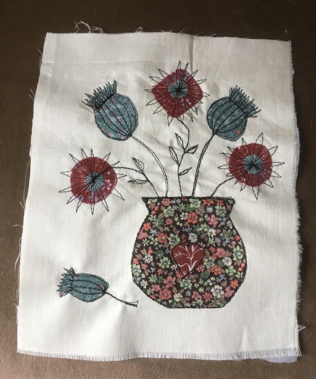 Embroidery via Zoom