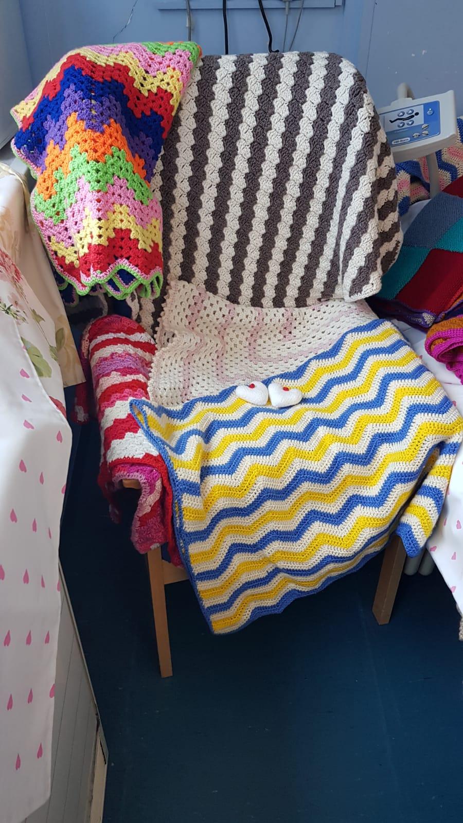 blankets chair