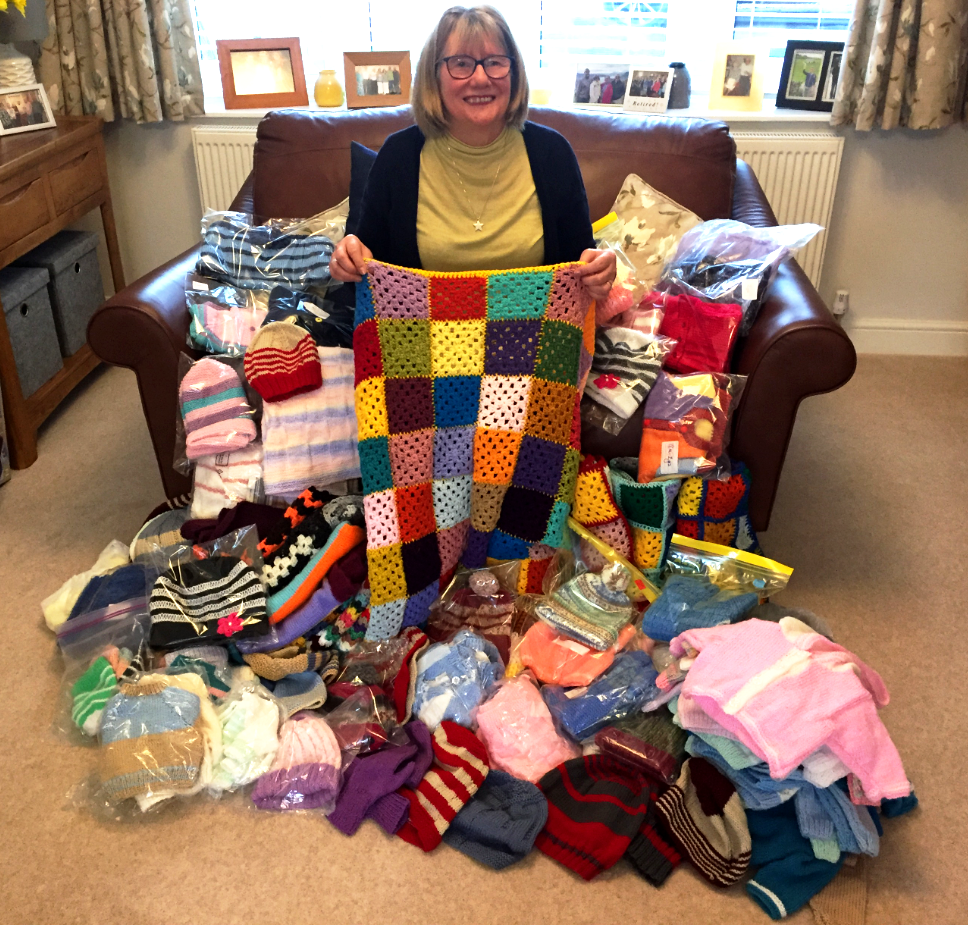 21.03 President of TEWI surrounded with donations for Growbaby project in Northampton